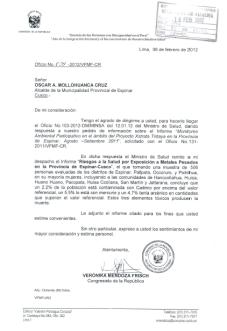 Oficio Verionica Mendoza