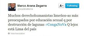 Twitter de Arana