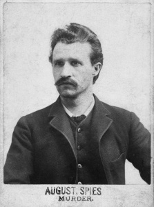 Portrait of anarchist and labor leader August Spies, who was arrested and hanged after the Haymarket Riots, Chicago, ca.1886. He was the first speaker at the rally. (Photo by Chicago History Museum/Getty Images) ** TCN OUT **