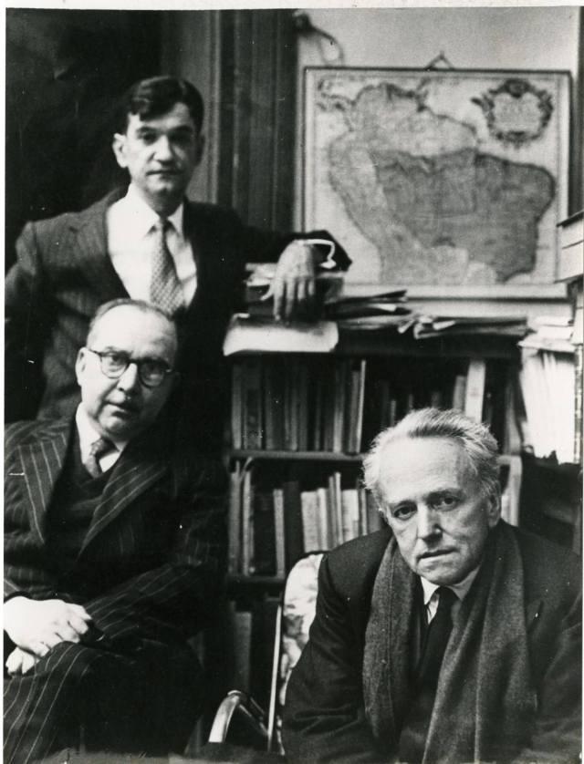 Juan Mejia Baca, Martin Adan y Raul Porras Barrenechea