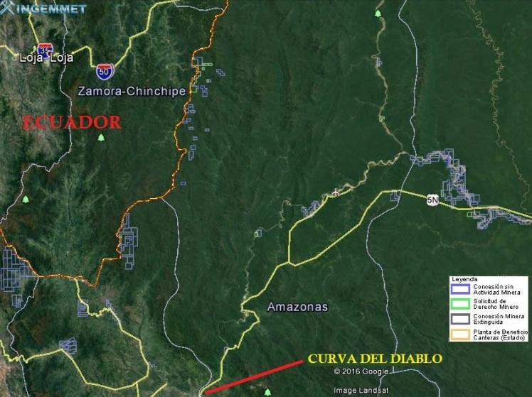 Cordillera del condor consesiones mineras