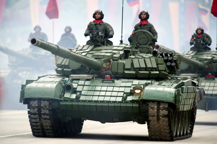 Venezuelan army Russian-made T-72B1 tank