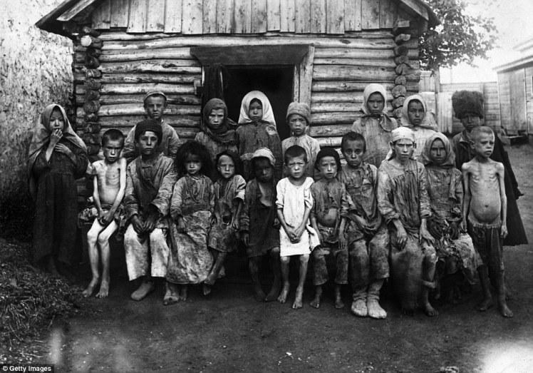 1921 refugiados niños rusos