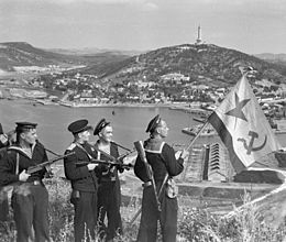260px-RIAN_archive_834147_Hoisting_the_banner_in_Port-Artur._WWII_(1941-1945)