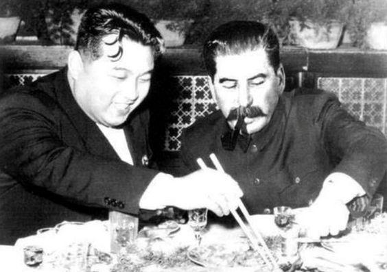 Stalin y Kim il Sung