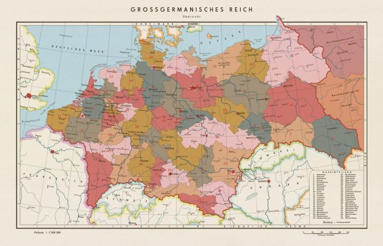 Mapa de alemania IV reich