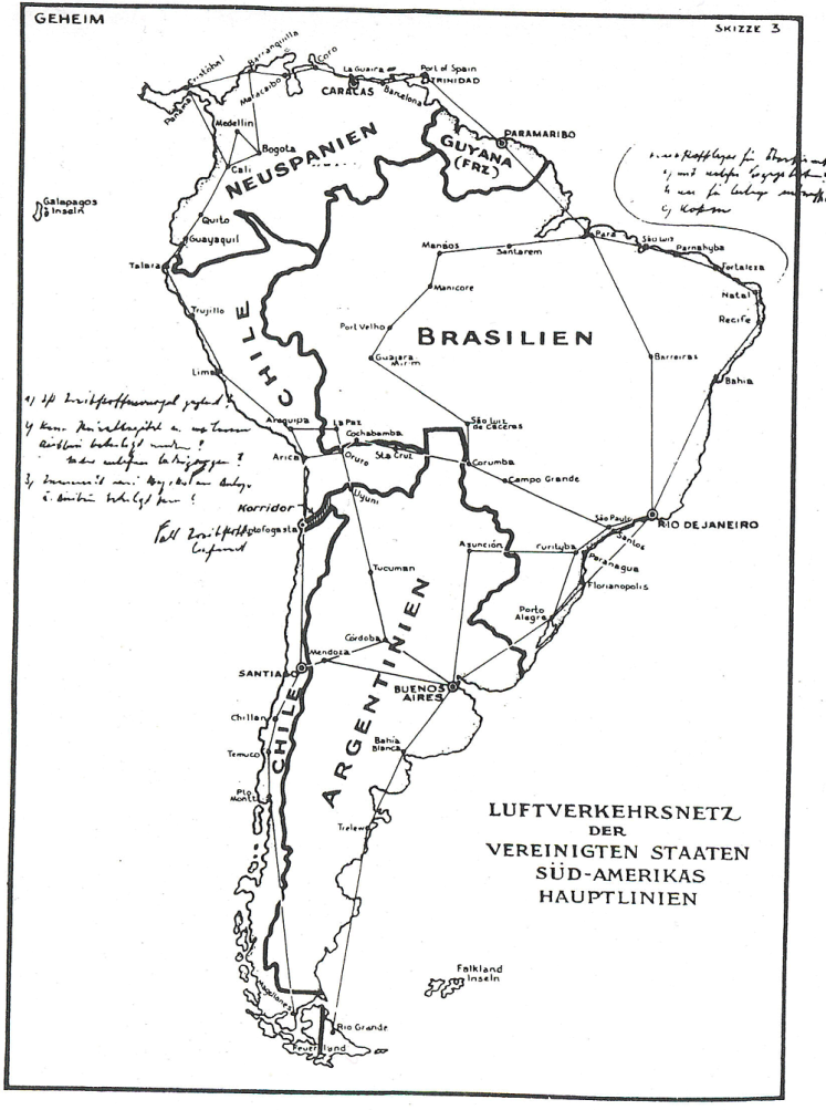 Mapa de Latinoamerica hecho por britanicos